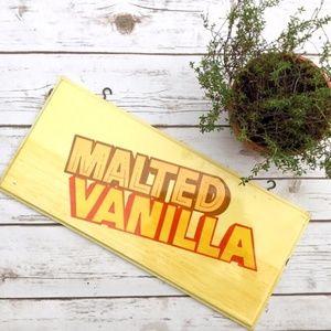 Malted Vanilla Vintage Wooden Ice Cream Sign